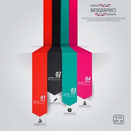 graficos: Infograf�a de dise�o minimalista. Vector