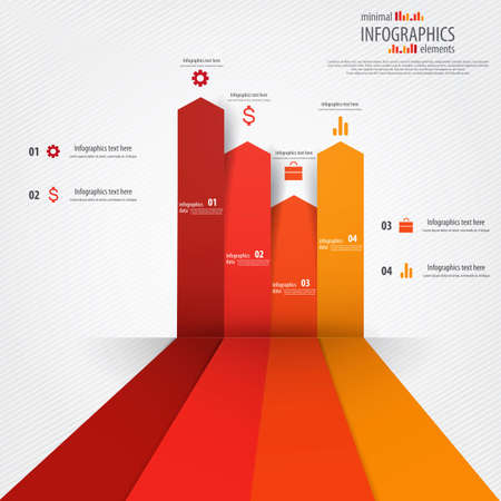 bar graph: Minimal infographics design. Vector