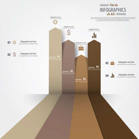 visualize: Minimal infographics design. Vector
