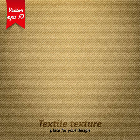 sackcloth: Brown Fabric Texture. Vector