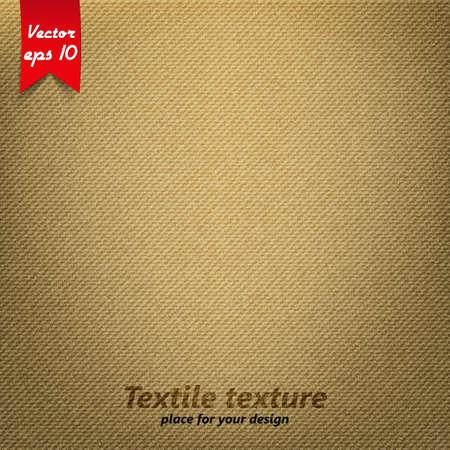 texture: Textura de tela marrón. Vector