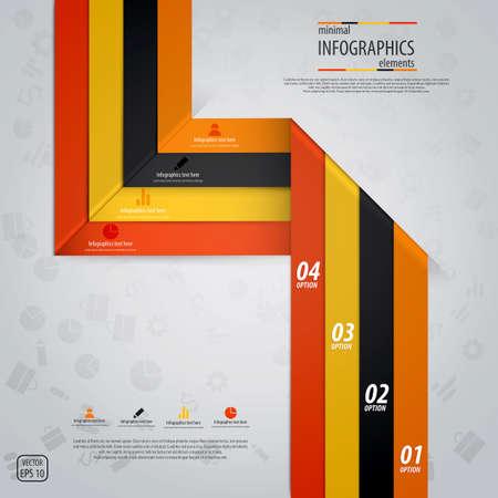 phonographic: Minimal infographics design Illustration