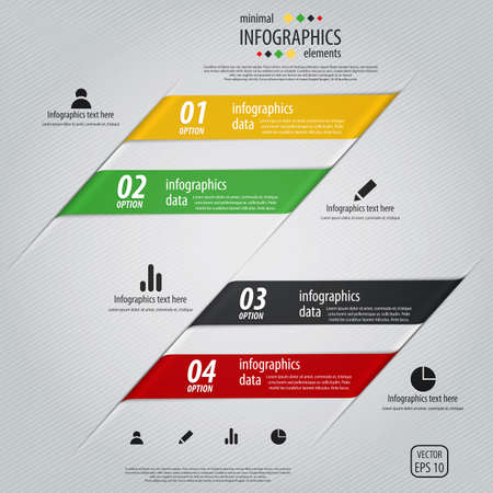 Minimal info graphics design.   Vector