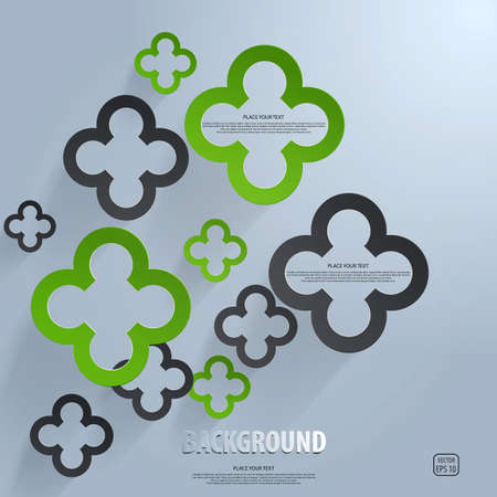 Background of cut paper- design template. Vector Stock Vector - 19124822