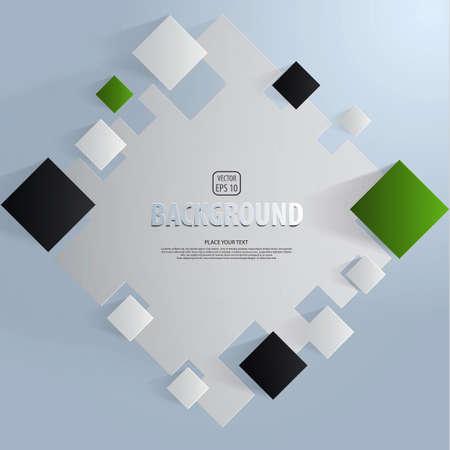 Background of cut paper- design template. Vector Illustration