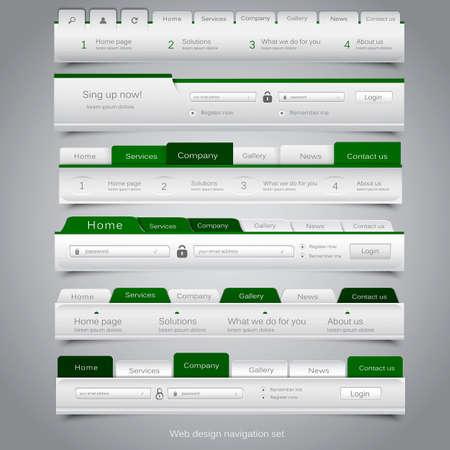 Web design navigation set. Vector Stock Vector - 19238235