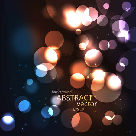 light trail: Abstract background with blurred defocused lights. Vector Illustration
