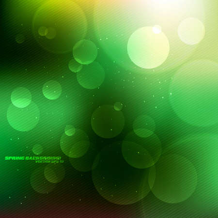 defocus: Abstract Green Spring Background . Vector