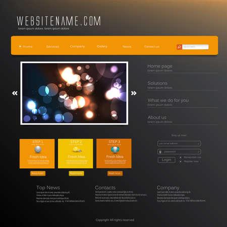 Website Design Template Stock Vector - 19375885