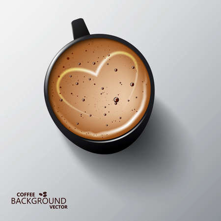 Realistic cup of coffee. Design template.  Vector