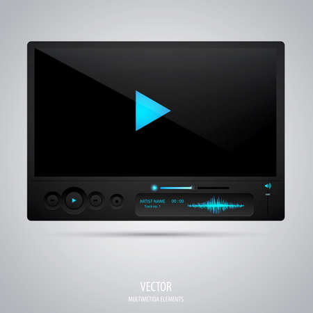 portable player: Media player interface.  Illustration