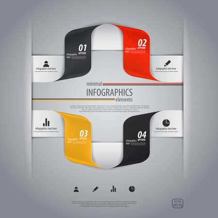 Minimal infographics design. Vector Stock Vector - 20270217