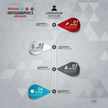 Minimal infographics design. Vector Stock Vector - 20269859