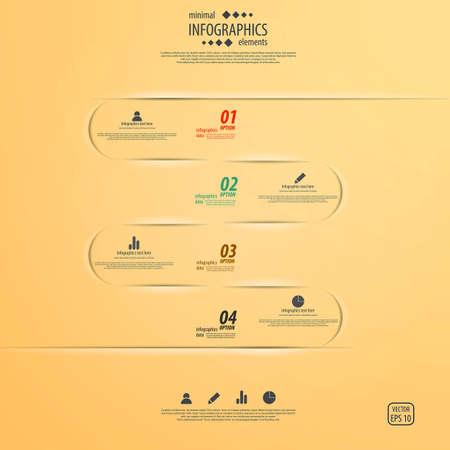 arrowheads: Minimal infographics design. Vector