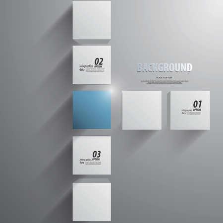 advertising design: 3D cubes background - design template. Vector Illustration