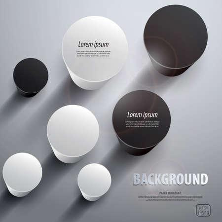 Resumen kolumns 3D. Vector