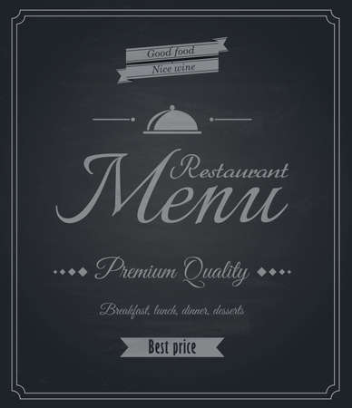 Restaurant menu-Chalkboard design. Vector Vector