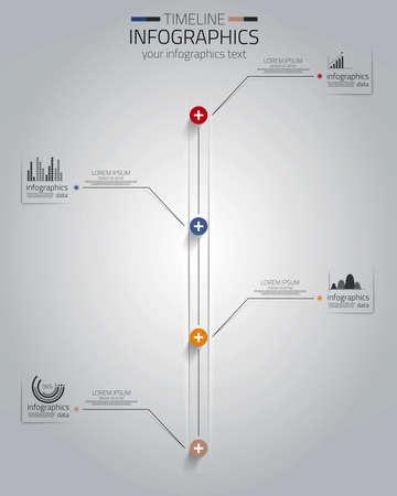ワークフローのレイアウト、図、番号のオプション、web デザインのために使用できる最小限のインフォ グラフィック デザイン ベクトル