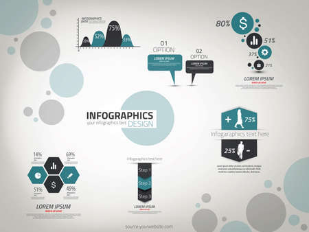 percentual: Infographics design template. Vector can be used for workflow layout, diagram, number options, web design.
