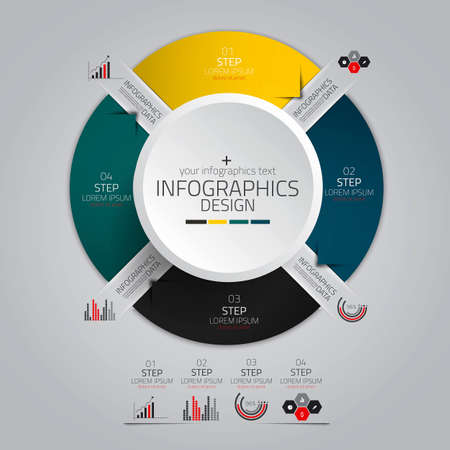 Minimal infographics design. Vector can be used for workflow layout, diagram, number options, web design. Illustration