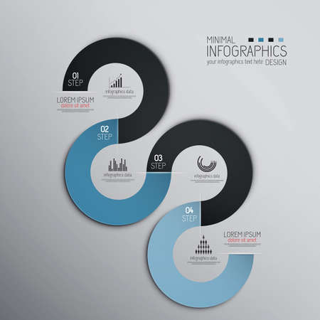 hands: Minimal infographics design. Vector can be used for workflow layout, diagram, number options, web design.Origami design