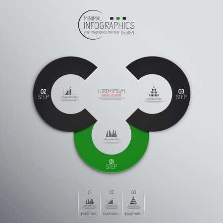 Minimal infographics. Vector Vector