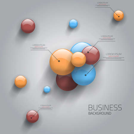 Properties of the Sphere- business template. Vector