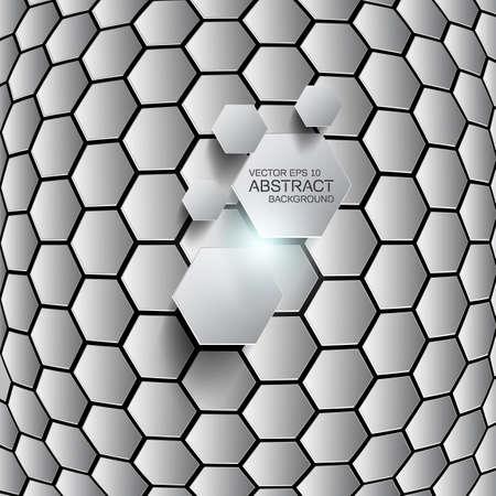 Hexagon background.  Vector