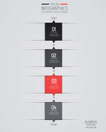 phonographic: Minimal infographics design. Vector can be used for workflow layout, diagram, number options, web design. Illustration