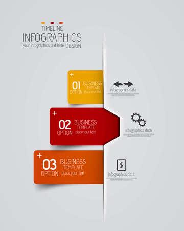 phonographic: Minimal infographics design. Vector