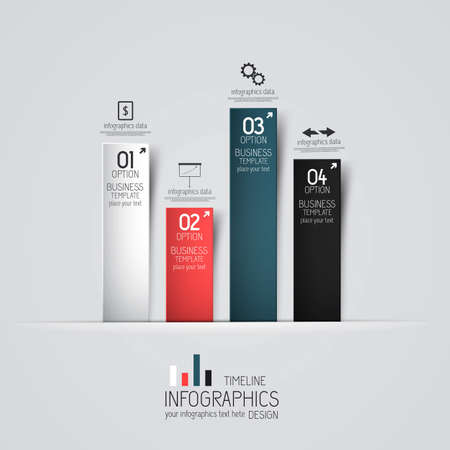 graph: Minimal infographics design Illustration