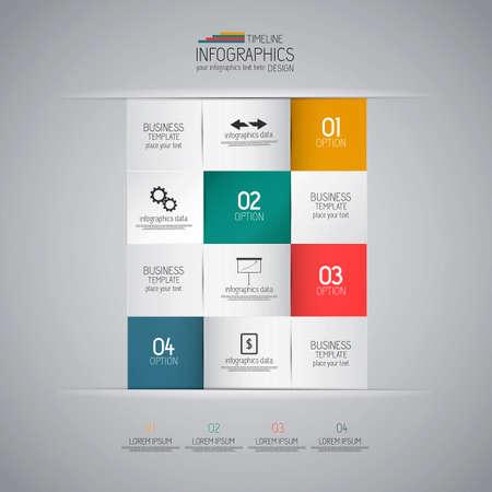 Minimal infographics design Illustration