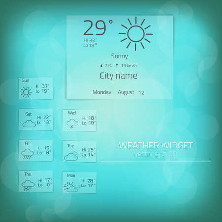 Weather widget template Stock Vector - 22137176