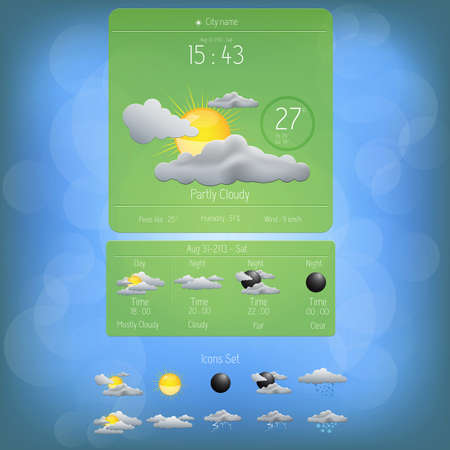day forecast: Weather widget template
