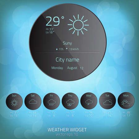 widget: Weather widget template