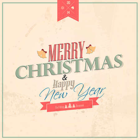 Typography Christmas Greeting Card  Vector Stock Vector - 22678172