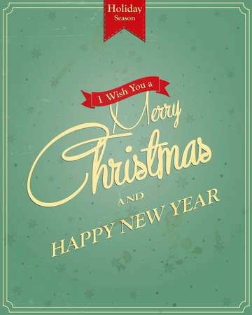 Typography Christmas Greeting Card  Vector Vector