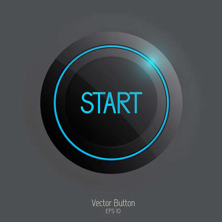 blue buttons: Web user interface design element  Vector