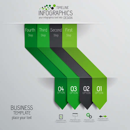 phonographic: Minimal infographics design  Vector