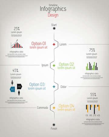 arrowheads: Minimal infographics design  Vector