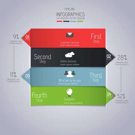 Minimal infographics design  Vector Vector