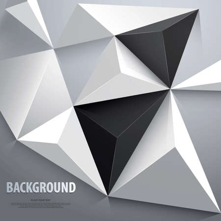 hitech: Abstract geometric background. Template for the poster, card, flyer or banner. Vector Illustration