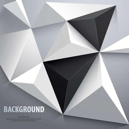 Fondo geom�trico abstracto. Plantilla para el cartel, tarjeta, folleto o banner. Vector Vectores