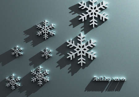 Abstract 3D Snowflakes Design Stock Photo