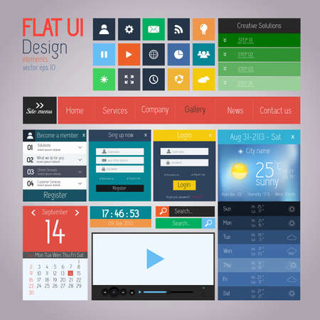 volume discount: UI elements for web and mobile. Flat design. Vector
