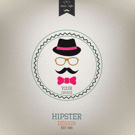 hair bow: Hipster style. Retro poster. Vector