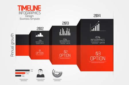 phonographic: Minimal infographics design.Timeline. Vector