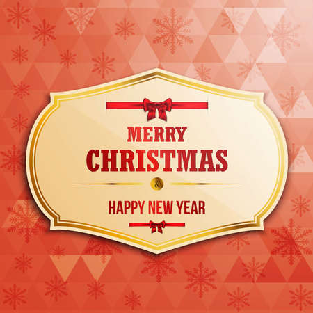 Christmas  label with holidays greeting. Vector Vector
