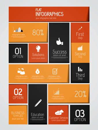 connect people: Minimal infographics. Flat  design. Vector Illustration