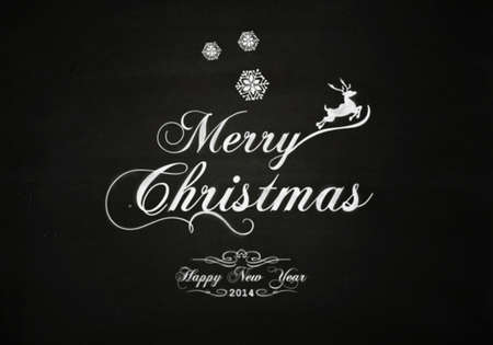 Christmas vintage chalk text label on a blackboard Stock Photo - 24199468